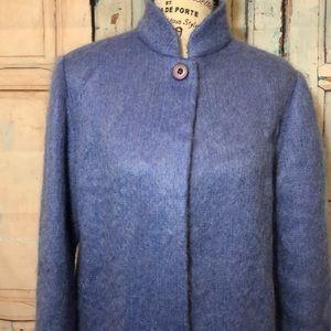 Carlisle Long Mohair Sweater Coat Periwinkle